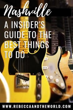 Planning a trip to Nashville? Our guide to Music City shows you what you absolutely must do on your first visit to Nashville, as well as some insider secrets to get you away from the tourist crowds. Read on! Nashville Things To Do, Nashville Vacation, Visit Nashville, Nashville Tennessee, Nashville Must Do, Travel Usa, Travel Tips, Travel Advice, Solo Travel