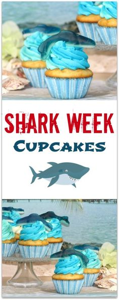 Shark cupcakes perfect for shark week recipe the o for Pool show discovery