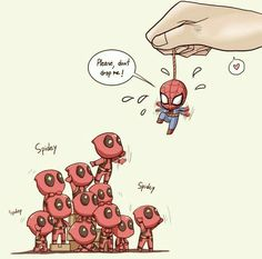 Read Attack SpiderPool from the story Imágenes Yaoi DC y Marvel by almene_asesina (loka del yaoi) with reads. Marvel Jokes, Marvel Dc Comics, Marvel Avengers, Avengers Memes, Marvel Funny, Marvel Art, Funny Comics, Deadpool X Spiderman, Batman