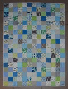 patchwork with circle quilting