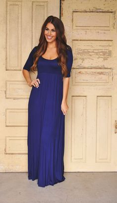Dottie Couture Boutique - 3/4th Sleeve Maxi- Navy , $46.00 (http://www.dottiecouture.com/3-4th-sleeve-maxi-navy/)