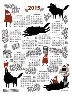 TopatoCo: Red Riding Hood 2015 Poster Calendar