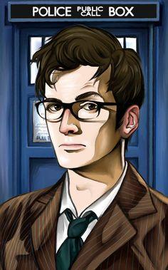 le docteur devant le Tardis