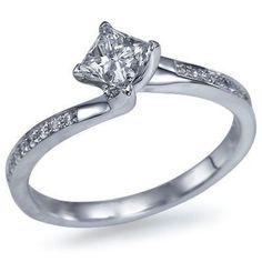 My favorite cut, princess cut diamond! Wedding Shit, Wedding Ideas, One Fine Day, Princess Cut Diamonds, Diamond Engagement Rings, Diamond Cuts, Fashion Beauty, Bling, Weddings