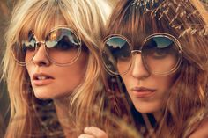 julia stegner and lou doillon by inez and vinoodh for chloé s/s 14