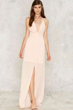 Factory Cecily Plunging Maxi Dress
