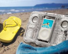 Waterproof speakers.