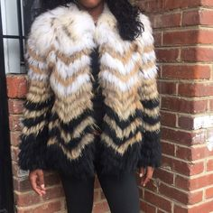 Theory Chevron Fur Jacket Brand new with Tags- Perfect ! I think my shoulders are too big it doesn't fit me good. Needs a home . I'll be sad to sell but  she deserves better. Never worn before , Fur Raccoon . Chevron Design Theory Jackets & Coats