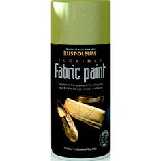 rust oleum flexible fabric paint gold spray 150ml kleidung und kreativ. Black Bedroom Furniture Sets. Home Design Ideas