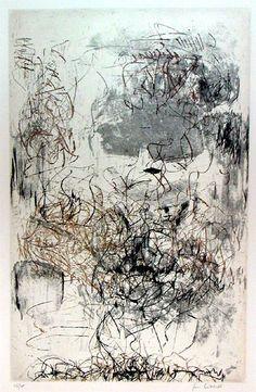 Artist: Joan Mitchell, Sunflower Etchings 1972 #abstractart