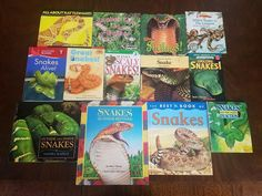 Lot of 13 Books about SNAKES Rattlesnake REPTILES Science & Nature