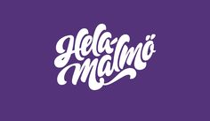HelaMalmö. Lettering. Logotype. Allan Daastrup / Peter Neumeister. #lettering #logotype