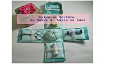 Caixa de Costura feita de Caixa de leite ou suco