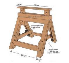Как сделать строительные козлы
