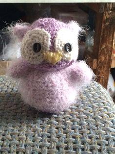 Crochet purple owl