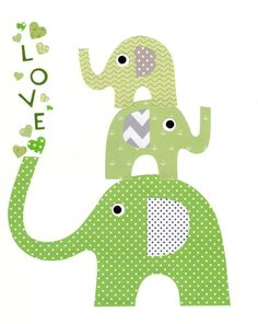 Green and Grey Nursery Artwork Print // Baby Room Decoration // Kids Room Decoration // Gifts Under 50 on Etsy, $56.00
