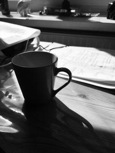 Skygger af kaffekop
