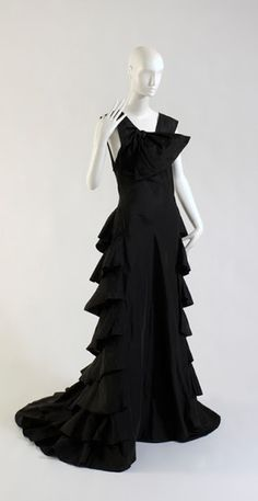 Madeleine Vionnet, dress, black silk taffeta, 1936, France, gift of Carole K. Newman. Photograph ©The Museum at FIT. Madeleine Vionnet and Madame Grès dresses still look so modern.