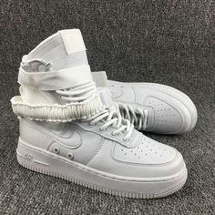 differently 6ed5b 766a4 Blanc Nike Special Forces Air Force 1 High Boots Femme Homme Pas Cher Air  Max 90