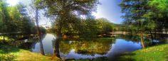 """Boa tarde :D Da razão de se chamar """"Volta da Lamela"""": na imagem o rio Vez em Arcos de #Valdevez - http://ift.tt/1MZR1pw -"""
