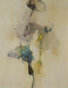 "Myong Stebbins -Poem from Gyeongju IV mixed media on ragboard 27"" x 22 3/4"" framed"