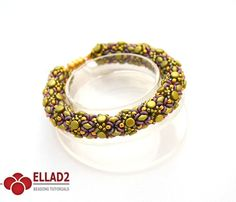 Beautiful Pella Bracelet with pellet beads, superduo and o-beads.Beading Tutorial for Pella Bracelet is very detailed. Step by step with photos.