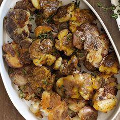 Crispy Olive Oil Potatoes #thanksgiving #holidays