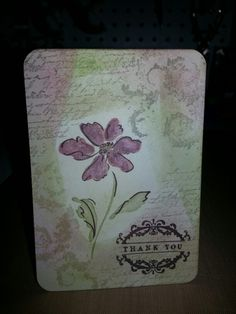 Card with distress ink