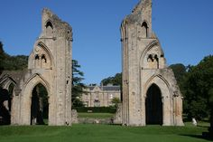 Glastonbury Abbey was a monastery in Glastonbury, Somerset, England. Its ruins, a grade I listed building and scheduled ancient monument, are open as a visitor attraction. Alleged final resting spot of King Arthur and Guinevere