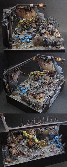 Ork Diorama, 'Bad Ork City'.