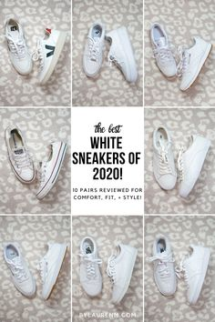 Best White Sneakers of 2020 White Shoes Outfit, White Casual Sneakers, Best White Sneakers, Sneakers Outfit Summer, White Fashion Sneakers, Sneaker Outfits Women, White Tennis Shoes, Tennis Shoes Outfit, Tenis Casual