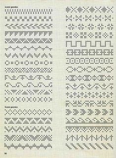 Ideas For Embroidery Stitches Border Fair Isles Fair Isle Knitting Patterns, Fair Isle Pattern, Knitting Charts, Loom Patterns, Knitting Stitches, Fair Isle Chart, Cross Stitch Borders, Cross Stitch Designs, Cross Stitching