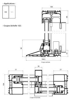 Baie coulissante galandage k line fenetre en aluminium et galandage facade menuiseries - Dimension porte fenetre 2 vantaux ...
