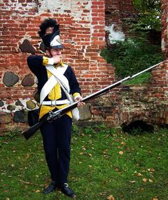 The line musketer of polish, crown army. King Stanisław August Poniatowski
