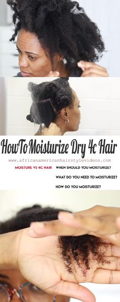 The One Video You Will Need On How To Moisturize Dry 4c Natural Hair #howtogrowlonghair #howtonaturalhair #4chaircare #naturalhaircare #4cnaturalhaircare #4chaircareroutine 4c Natural Hair, Natural Haircare, Natural Hair Styles, African Natural Hairstyles, African American Hairstyles, Love Hair, Big Hair, Grow Long Hair, Coily Hair