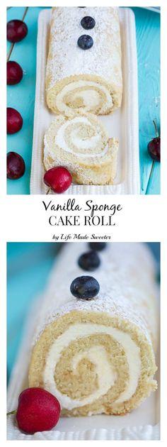 Vanilla Sponge Cake with a creamy vanilla mascarpone filling makes an impressive and light dessert perfect for summer