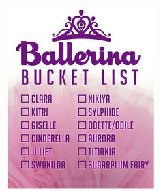 Keep up with your Ballerina Bucket List on our new wall skin poster! It's removable and re-hangable. The special adhesive lets you move it hundreds of times with no thumbtack or staples required.