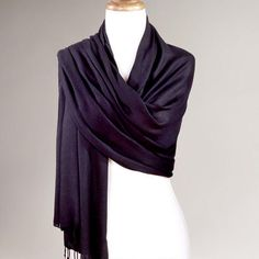 One of my favorite discoveries at WorldMarket.com: Black Pashmina Shawl