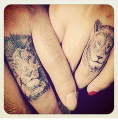 more couples tattoo lioness tattoo lion tattoo matching tattoo tattoos ...