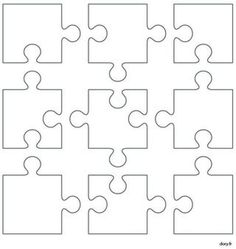 Diy And Crafts, Crafts For Kids, Arts And Crafts, Paper Crafts, Puzzle Crafts, Puzzle Art, Puzzle Piece Template, Puzzle Pieces, Teaching Art