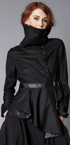 8a78a901c8 Widow by Lip Service Black   Lace   Cemetery Assassin Jacket Coat