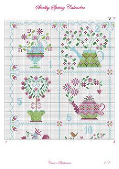 28f24b30470 Gallery.ru   Фото  4 - Shabby Spring Calendar - Marina-Melnik