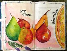 ...journal pages... happy on the culinary path...Valerie Weller