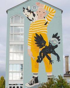 Helsinki International Film Festival by Eero Lampinen Graffiti Artwork, Mural Wall Art, Graffiti Tagging, Murals Street Art, Color Pallets, Sculptures, Drawings, Illustration, Artist