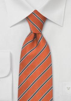 Gestreifte Krawatte orange schwarz