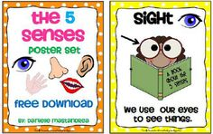 5 Senses Poster Set- FREE DOWNLOAD