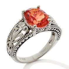 Orvieto Silver 2ct Prism Pink Quartz Sterling Silver Ring at HSN.com.