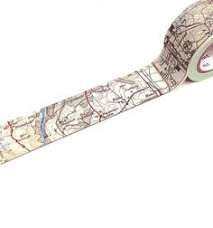 mt Map Washi Tape  Wide 25mm  Realistic Vintage Map by MindtheWrap