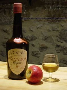 Calvados apple brandy.Fascinating trip around the distillery and of course the tastings afterwads