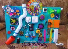 Купить Бизиборд - комбинированный, бизиборд, развивающая игрушка, развивающая доска, доска с замочками, доска монтессори
